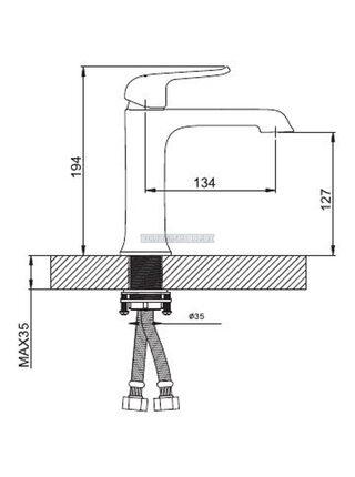 G1050 Смеситель для раковины, черный GAPPO