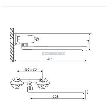 G2231-4 Смеситель для ванны, бронза GAPPO