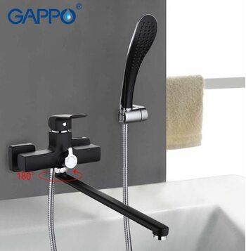 G2250 Смеситель для ванны, черный GAPPO