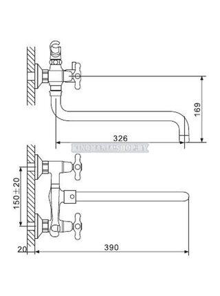 G2265-3 Смеситель для ванны, красное золото GAPPO