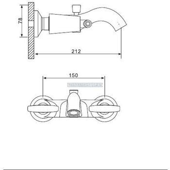 G3031-4 Смеситель для ванны, бронза GAPPO