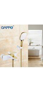G3080 Смеситель для ванны, белый-золото GAPPO