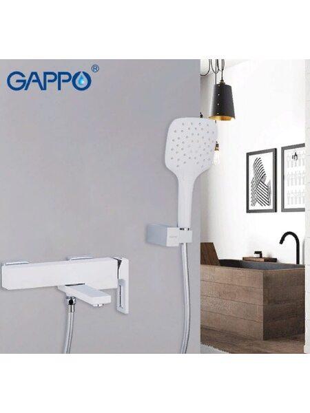 G3217-8 Смеситель для ванны, белый GAPPO
