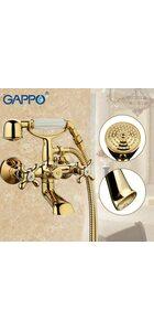 G3263-6 Смеситель для ванны, позолоченный GAPPO