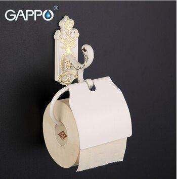 G3503 Бумагодержатель белый/золото GAPPO