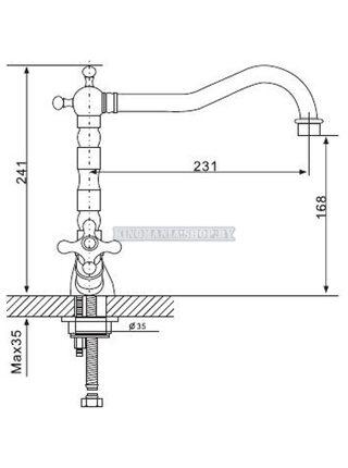 G4063-4 Смеситель для кухни, бронза GAPPO