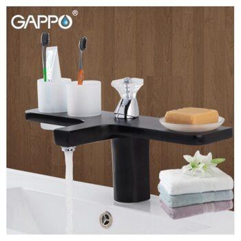 G1096-6 Смеситель для раковины,,черный GAPPO