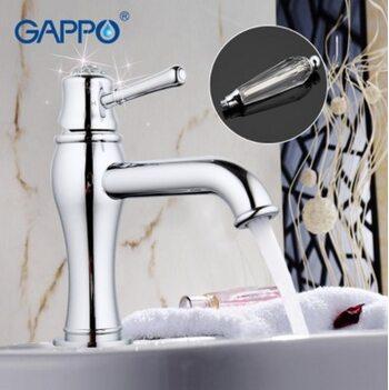 G1097 cмеситель для раковины с хрустальной ручкой GAPPO