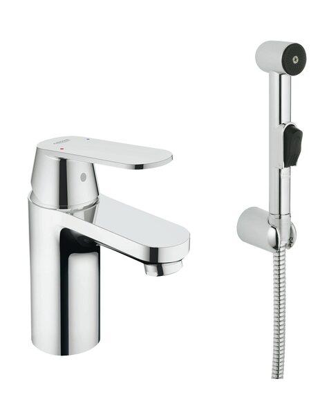 Смеситель для раковины GROHE Eurosmart Cosmopolitan с гигиеническим душем, хром (23125000)