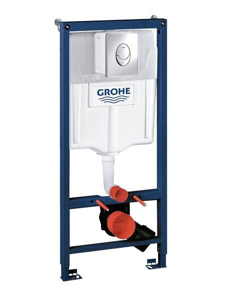 Система инсталляции GROHE Rapid SL с панелью смыва Skate Air 3-в-1 (38721001)