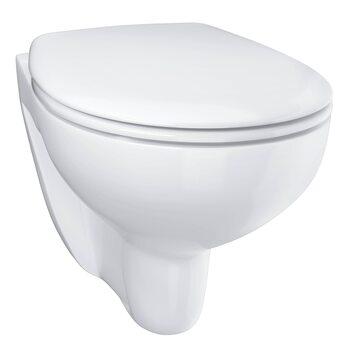 Подвесной безободковый унитаз GROHE Bau Ceramic с сиденьем (с микролифтом), альпин-белый (39351000)