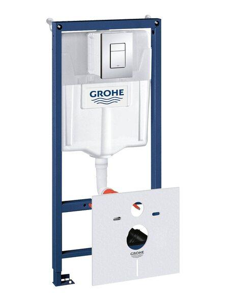 Система инсталляции GROHE Rapid SL с панелью смыва Skate Cosmopolitan 4-в-1 (38775001)