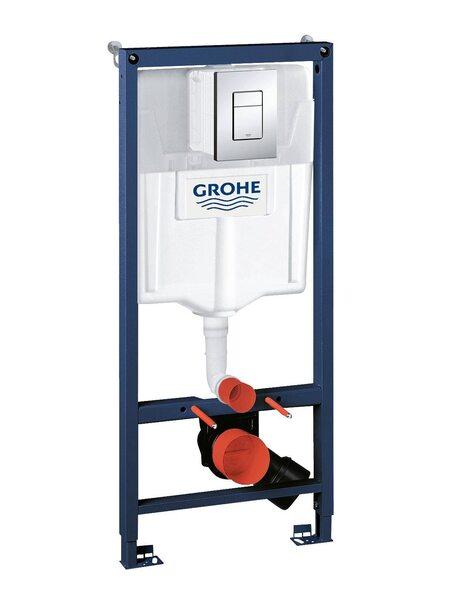 Система инсталляции GROHE Rapid SL с панелью смыва Skate Cosmopolitan (38772001)