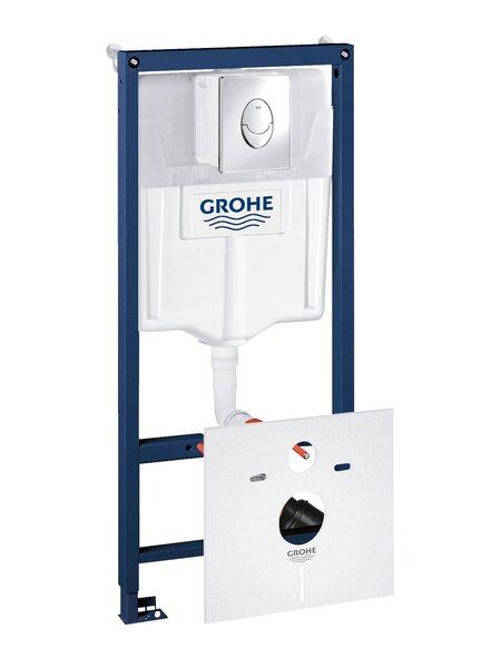 Система инсталляции GROHE Rapid SL с панелью смыва Skate Air 4-в-1  (38750001)