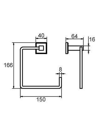 Полотенцедержатель, сплав металлов, Labrador, Milardo, LABSM00M52