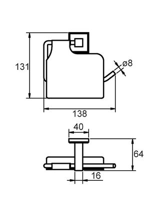 Бумагодержатель с крышкой, сплав металлов, Labrador, Milardo, LABSMC0M43