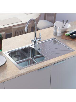 Мойка для кухни нержавеющая сталь, полированная, чаша слева Arro Iddis ARR78PLi77