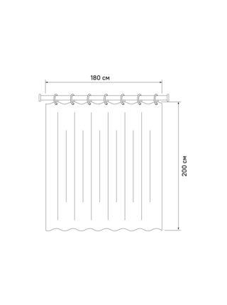 Штора для ванной комнаты Basic Iddis B52P218i11