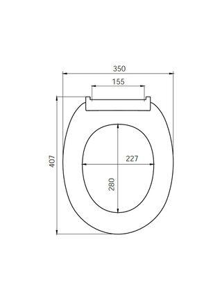 Сиденье для унитаза PP Seat Cover Iddis ID 01 046.1 bel