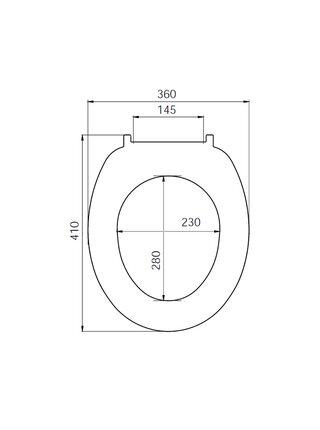 Сиденье для унитаза PP Seat Cover Iddis ID 01 061.1 bel