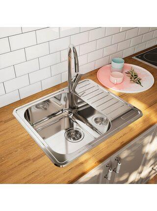 Мойка для кухни нержавеющая сталь, полированная, чаша слева Strit Iddis STR58PLi77