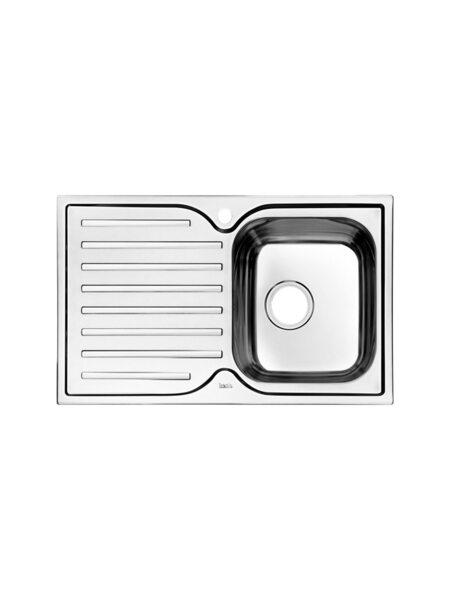 """Мойка для кухни нержавеющая сталь, """"шелк"""", чаша справа Strit Iddis STR78SRi77"""