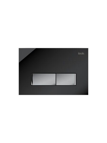 Клавиша смыва, универсальная, черное стекло Uniglass Iddis UNG10GBi77