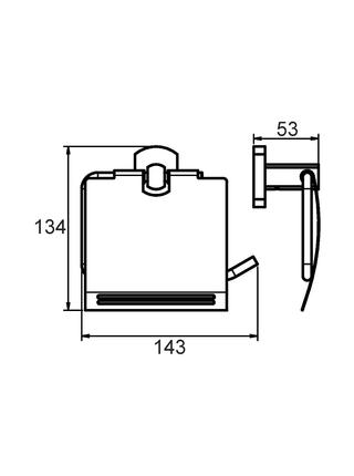 Бумагодержатель с крышкой, сплав металлов, Neva, Milardo, NEVSMC0M43