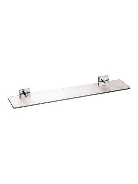 Полка стеклянная, матовое стекло, сплав металлов, Amur, Milardo, AMUSMG0M44