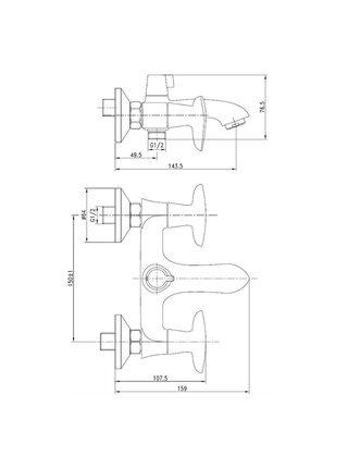 Смеситель для ванны Copter IDDIS COPSB02i02