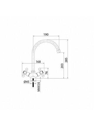 Смеситель для кухни Duplex DUPSB0JM05 Milardo