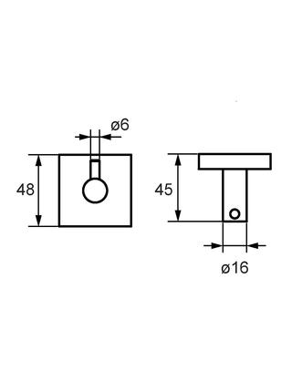 Крючок одинарный, сплав металлов, Amur, Milardo, AMUSM10M41