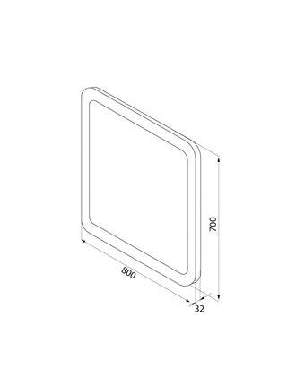 Зеркало Edifice 80 см IDDIS EDI8000i98