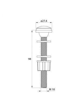 Двухуровневая арматура с нижним подводом воды (тип Б) IDDIS F012400-02K