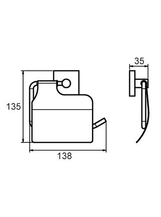 Бумагодержатель c крышкой, сплав металлов, Amur, Milardo, AMUSMC0M43