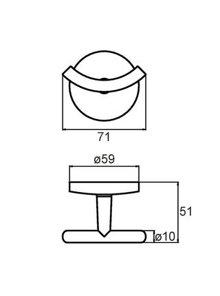 Крючок двойной, сплав металлов, Cadiss, Milardo, CADSM20M41