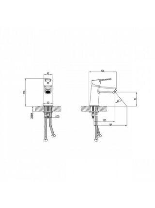 Смеситель для умывальника Stripe STRSB00M01