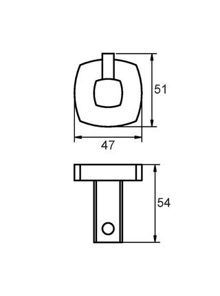 Крючок одинарный, сплав металлов, Volga, Milardo, VOLSM10M41