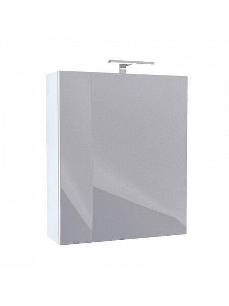 Шкаф-зеркало, 50 см, двухдверный, белый, New Mirro, NMIR502i99, IDDIS