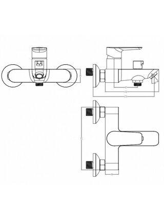 Смеситель для ванны, Cloud, IDDIS, CLOWG02i02