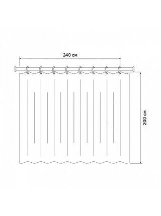 Штора для ванной комнаты Basic Iddis B44P224i11