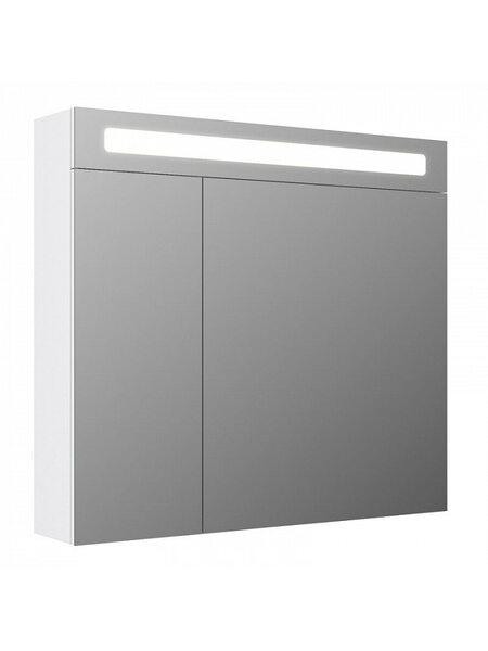 Шкаф-зеркало, 80 см, двухдверный, белый, New Mirro, NMIR802i99, IDDIS
