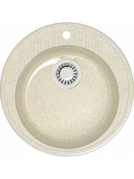 Мойка круглая (525х525х213) Лексия Z6Q2 (бежевый)