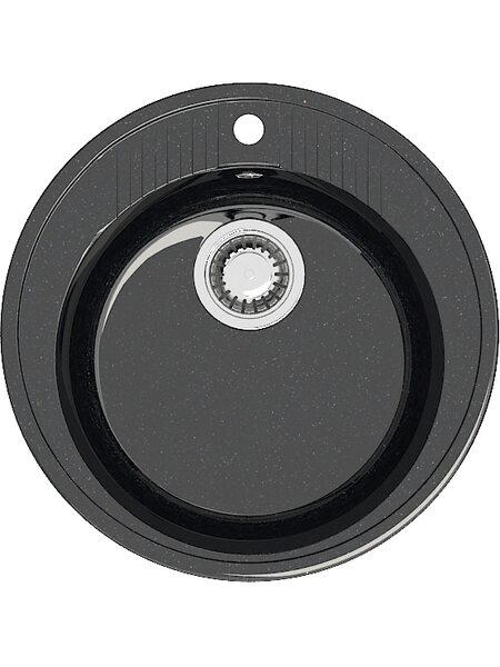 Мойка круглая (525х525х213) Лексия Z6Q4 (черный)