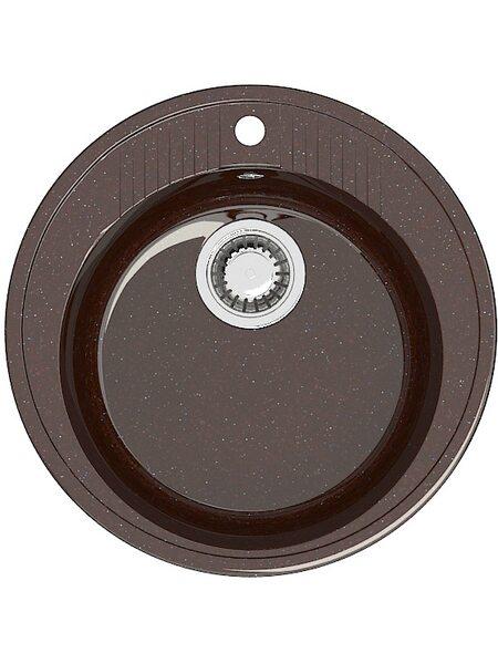 Мойка круглая (525х525х213) Лексия Z6Q16(шоколад)
