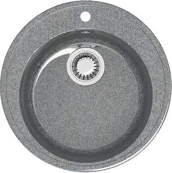 Мойка круглая (525х525х213) Лексия Z6Q8 (темно серый)
