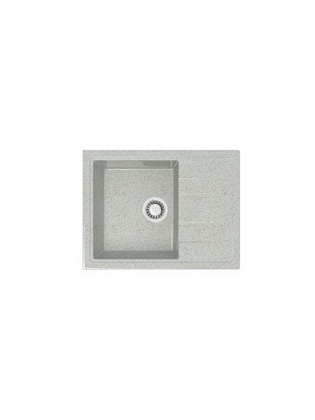 Мойка глянцевая Marrbaxx Анастасия Z150 светло-серый Q10 (575*470)