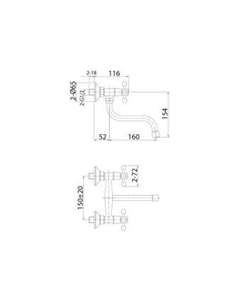 Смеситель для кухни Duplex Milardo DUPSB1M09