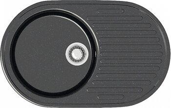 Мойка овал (455х725х175) Наоми Z11Q4 (черный)