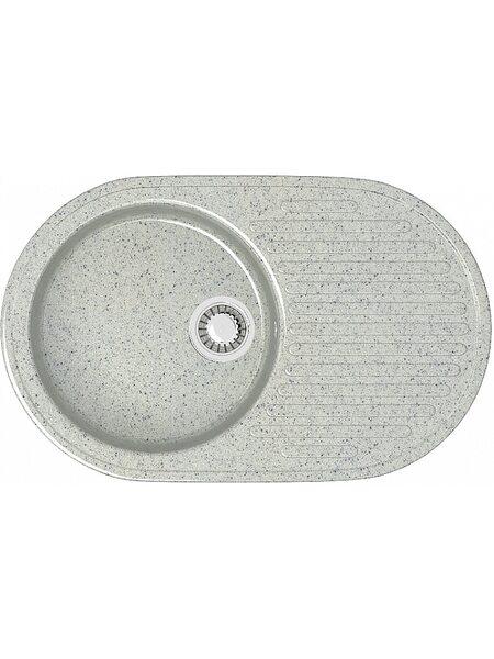 Мойка овал (455х725х175) Наоми Z11Q10(светло серый)
